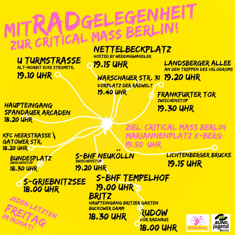 mitRADgelegenheit zur Critical Mass Berlin Karte